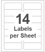 14 labels per sheet