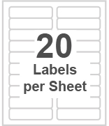 20 labels per sheet