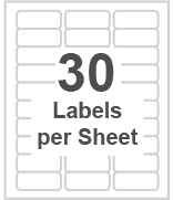 30 labels per sheet