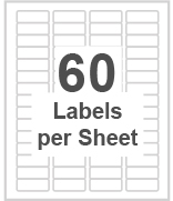 60 labels per sheet