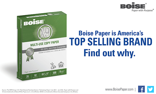 Boise Paper Top Selling Brand