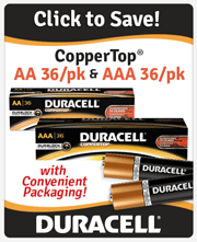 Duracell CopperTop AA and AAA