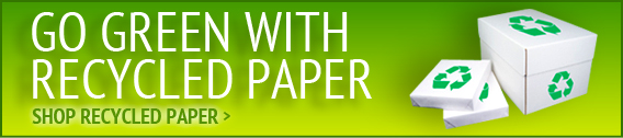 Go Green with Recycled Paper