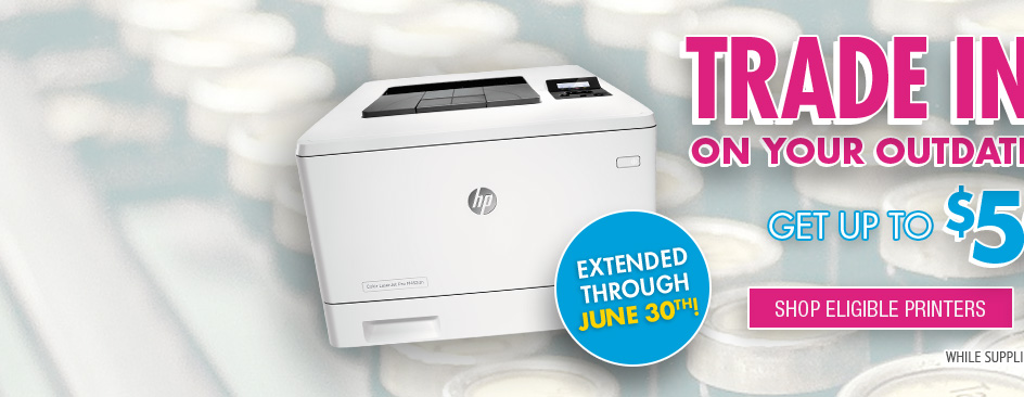 Shop Eligible HP Trade in and Save Printers