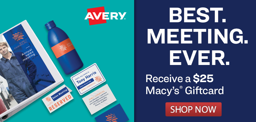 Receive a Home Depot Gift Card with Eligible Avery Purchase