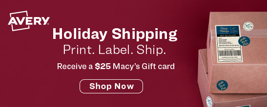Receive a $25 Macy's Gift Card with Eligible Avery Purchase
