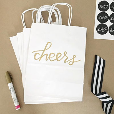 Paper Bag with Decorative Writing