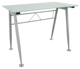 Glass Top Table Desk
