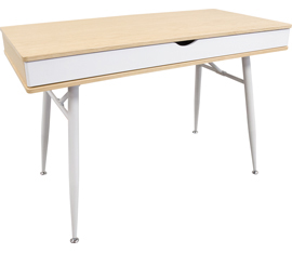 Table Desk with Double Drawer