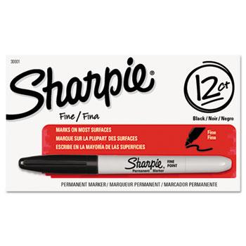 Sharpie® Permanent Marker, Fine Point, Black, DZ