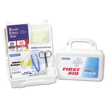 25 Person First Aid Kit, 112 Pieces/Kit