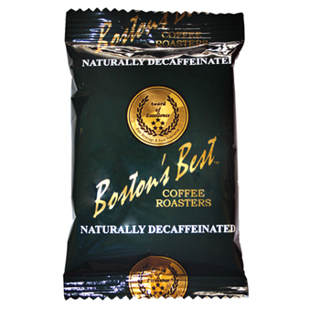Boston's Best Coffee Roasters Ground Coffee, Naturally Decaffeinated, 2 oz. Bag, 40/CS