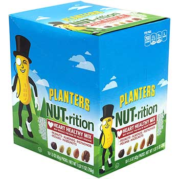 Planters® Nut-Rition Heart Healthy Mix, 1.5 oz., 18/PK
