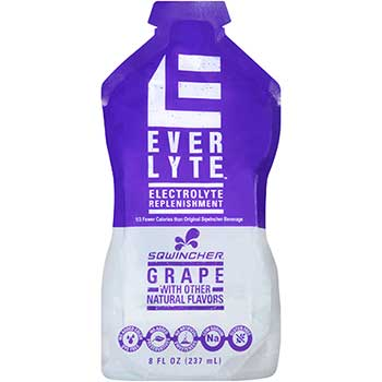 Sqwincher® EverLyte Ready to Drink Pouch, Low Calorie, 8oz., Grape