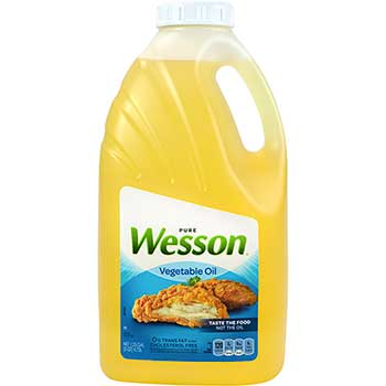 Wesson® Pure Vegetable Oil, 5 Quart Bottle