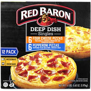 Red Baron® Deep Dish Pizza Singles Variety Pack, 12/CT
