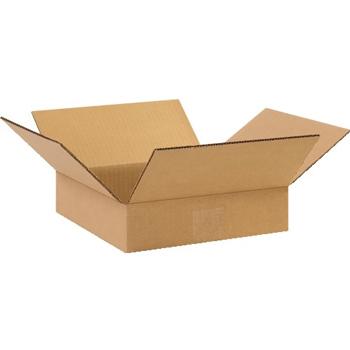 """W.B. Mason Co. Flat Corrugated boxes, 10"""" x 10"""" x 2"""", Kraft, 25/BD"""