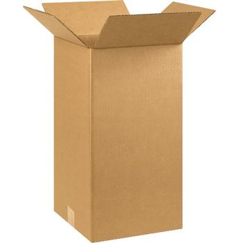 """W.B. Mason Co. Corrugated boxes, 10"""" x 10"""" x 20"""", Kraft, 25/BD"""