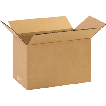 "Corrugated boxes, 11"" x 6"" x 6"", Kraft, 25/BD"