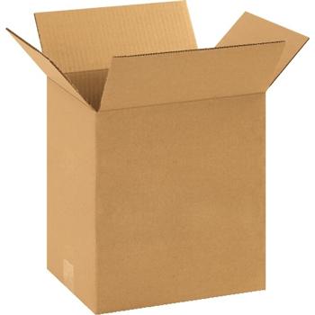 """W.B. Mason Co. Corrugated boxes, 10"""" x 8"""" x 12"""", Kraft, 25/BD"""