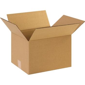 """Corrugated boxes, 10"""" x 9"""" x 8"""", Kraft, 25/BD"""