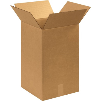 "W.B. Mason Co. Corrugated boxes, 12"" x 12"" x 20"", Kraft, 25/BD"