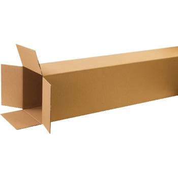 "W.B. Mason Co. Tall Corrugated boxes, 12"" x 12"" x 60"", Kraft, 10/BD"