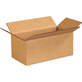 "Corrugated boxes, 10"" x 5"" x 4"", Kraft, 25/BD"