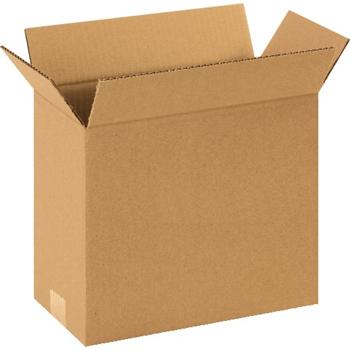 """W.B. Mason Co. Corrugated boxes, 12"""" x 6"""" x 8"""", Kraft, 25/BD"""