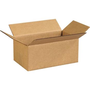 """W.B. Mason Co. Corrugated boxes, 12"""" x 7"""" x 5"""", Kraft, 25/BD"""