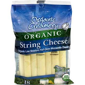 Organic String Cheese, 1 oz., 18/PK