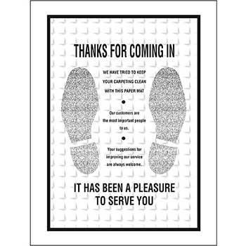 W.B. Mason Auto Supplies Floor Mat, Waffle Design, Black, Footprint, 250/BX