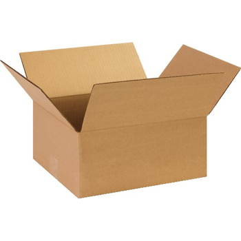 """Corrugated boxes, 13"""" x 11"""" x 6"""", Kraft, 25/BD"""