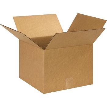 """W.B. Mason Co. Corrugated boxes, 13"""" x 13"""" x 10"""", Kraft, 25/BD"""