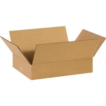 """W.B. Mason Co. Flat Corrugated boxes, 14"""" x 10"""" x 3"""", Kraft, 25/BD"""