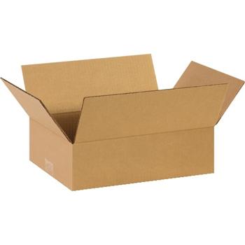 """W.B. Mason Co. Flat Corrugated boxes, 13"""" x 9"""" x 4"""", Kraft, 25/BD"""