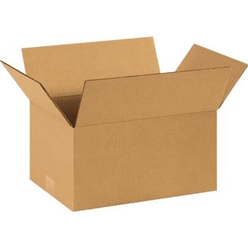 """W.B. Mason Co. Corrugated boxes, 14"""" x 10"""" x 7"""", Kraft, 25/BD"""