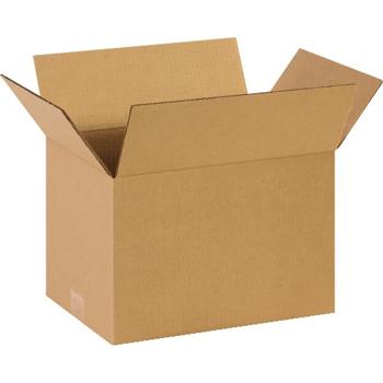 """W.B. Mason Co. Corrugated boxes, 14"""" x 10"""" x 9"""", Kraft, 25/BD"""