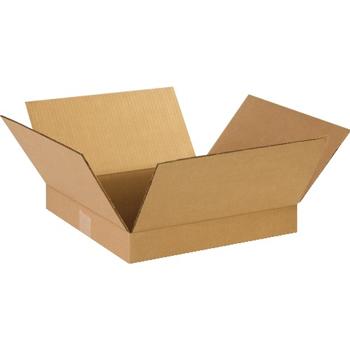 """W.B. Mason Co. Flat Corrugated boxes, 14"""" x 14"""" x 2"""", Kraft, 25/BD"""