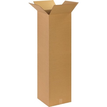"Tall Corrugated boxes, 14"" x 14"" x 48"", Kraft, 10/BD"