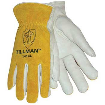 Tillman® 1414 Top Grain/Split Cowhide Drivers Gloves, Small, Pair