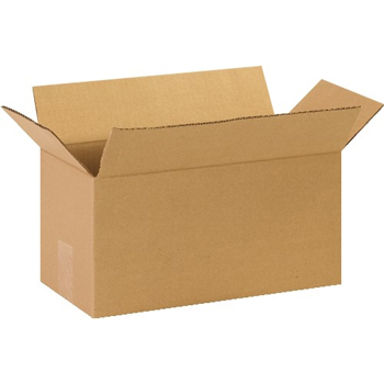 "Long Corrugated boxes, 14"" x 7"" x 7"", Kraft, 25/BD"