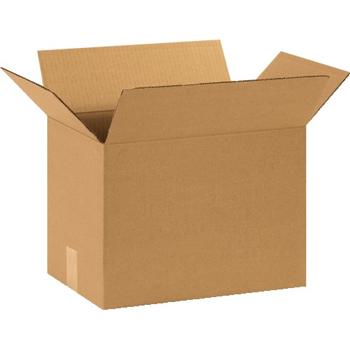 """W.B. Mason Co. Corrugated boxes, 15"""" x 10"""" x 14"""", Kraft, 25/BD"""