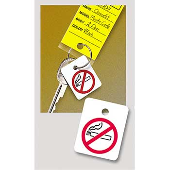 Key Fob, No Smoking Reminder for Key Ring, 250/PK