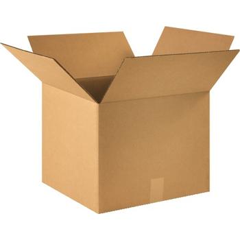 """W.B. Mason Co. Corrugated boxes, 16"""" x 16"""" x 13"""", Kraft, 25/BD"""