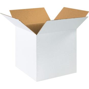 """W.B. Mason Co. Corrugated boxes, 16"""" x 16"""" x 16"""", White, 25/BD"""
