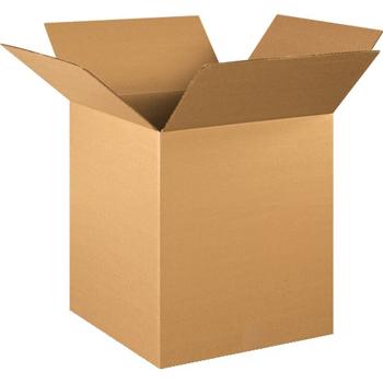 """W.B. Mason Co. Corrugated boxes, 16"""" x 16"""" x 19"""", Kraft, 25/BD"""