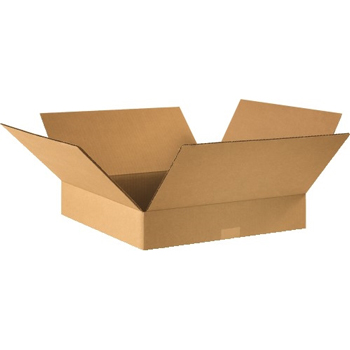 "W.B. Mason Co. Flat Corrugated boxes, 16"" x 16"" x 3"", Kraft, 25/BD"