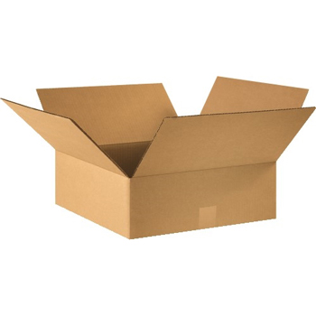 """W.B. Mason Co. Corrugated boxes, 16"""" x 16"""" x 5"""", Kraft, 25/BD"""