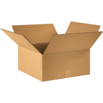 "W.B. Mason Co. Corrugated boxes, 15"" x 15"" x 7"", Kraft, 25/BD"
